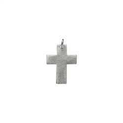 "Pendant ""Passion Cross"", wide, frosted, 2,4cm"