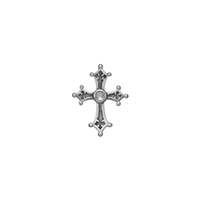 "Pendant ""Templar Cross"" with Topaz, 2,6cm"