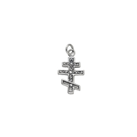 "Symbol-Pendant ""Russian-Cross"", 925 Silver, polished"