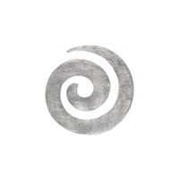 Pendant Spiral, 4,0cm, frosted
