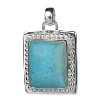 Pendant Turquoise (stab.), 35 x 22mm