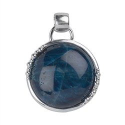 Pendant Apatite, Sphere Decor, 3,3cm (small)