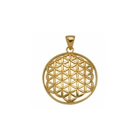 "Pendant ""Flower of Life"", 3,2cm, gold plated"