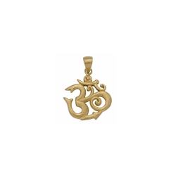 "Pendant ""Om"", 2,5cm, gold plated"