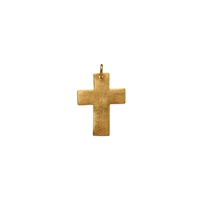 "Symbol-Pendant ""Passion-Cross"", wide, 925 Silver gold plated, matt"