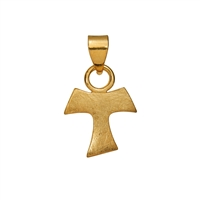 "Symbol-Pendant ""Bail -Cross"", 925 Silver gold plated, polished"