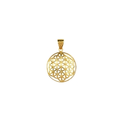 Pendant Flower of Life, 2,5cm, Silver gold plated