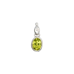 Pendant Peridot facetted (8 x 6mm), 2,0cm