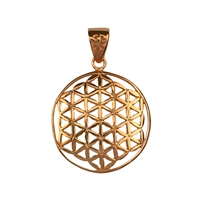 "Pendant ""Flower of Life"",2,5cm, rose gold plated"