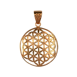 Pendant Flower of Life, 2,5cm, Silver rose gold plated