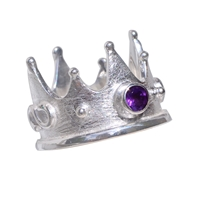 "Ring ""Crown"" Amethyst, Size 55"