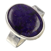 Ring with Sugilite oval, Size 62