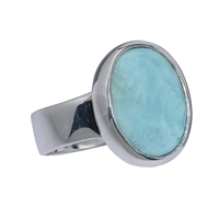 Ring Larimar oval, Size 59