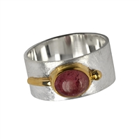 Ring Tourmaline red, Size 52