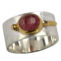 Ring Tourmaline red, Size 55