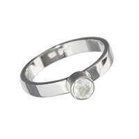 Ring Labradorite white facetd (4mm), Size 59