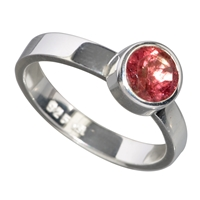 Ring Tourmaline red facetted, Size 61