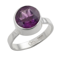 Ring Amethyst faceted (10mm), Size 53