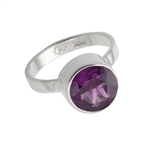 Ring Amethyst faceted (10mm), Size 55