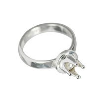 "Design Ring ""Crown"", Silver, Size 53"
