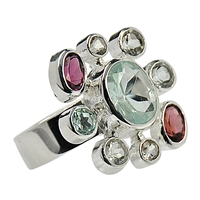 Ring Topaz and Garnet, Size 59