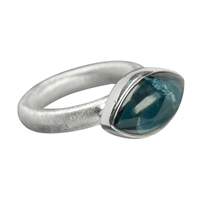 Ring Navette Apatite, Size 57