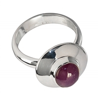 Ring Ruby (9x7mm), Size 55
