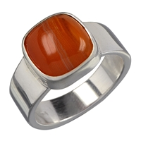 Ring Carnelian quadratic, Size 61