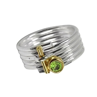 Ring Stripes Peridote, Size 57