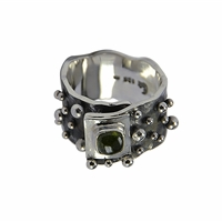 "Ring ""Spheres"" Tourmaline green, Size 63"