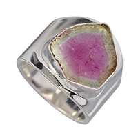 Ring Watermelon Tourmaline, Size 55
