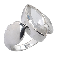 "Ring ""Angel Wings"" Topaz, Size 61"