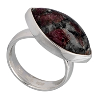 Ring Navette Eudialyte (25mm), Size 57