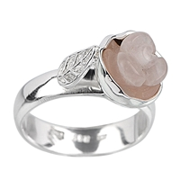 "Ring ""Rose"" Rose Quartz, Size 57"