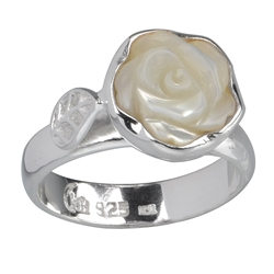 "Ring ""Rose"" Mother of Pearl, Size 55"