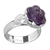"Ring ""Rose"" Amethyst, Size 55"