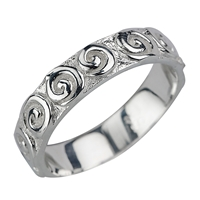 "Ring ""Curly"", Size 55"