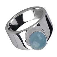 Ring Aquamarine, size 55