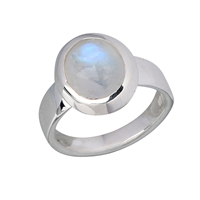 Ring Labradorite white (10mm), Size 55