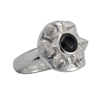 Ring Spinel (black), Size 57