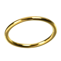 Design Ring Just round, Silver Gold plated, Size 57