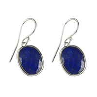Earhooks Lapis faceted