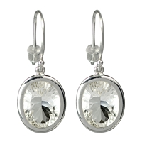 Earrings Rock Crystal AAA, faceted, appr. 1,4cm