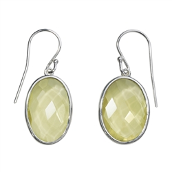 Earhooks Lemon Quartz faceted