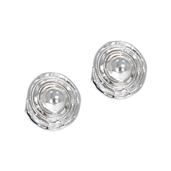 Ear Studs Circle with Spiral, 1,6cm