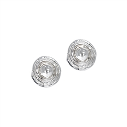 Ear Studs Circle with Spiral, 1,0cm
