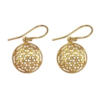 "Earrings ""Flower of Life"", silver gold plated"