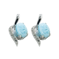 Series 3 Stud Earrings Larimar and Topaz