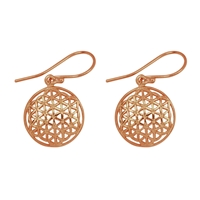 "Earrings ""Flower of Life"", Silver rosegoldplated"