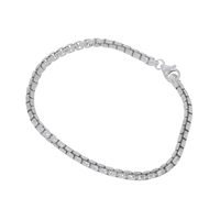 Bracelet for Charms, Modell Venezia round, Silver polished/matt, 3,7mm x 19cm
